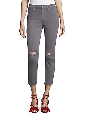 Alana Photoready Distressed Cropped Skinny Jeans