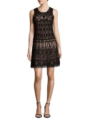 Sleeveless Shift Dress Adrianna Papell