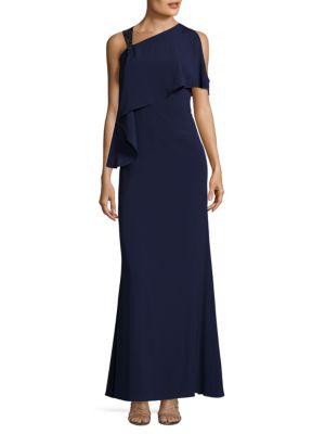 One Shoulder Floor-Length Gown Aidan Mattox