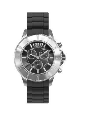 Stainless Steel  Rubber Strap Watch Versus Versace