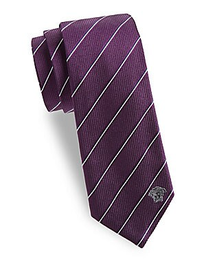 Two-Tone Fine Stripe Silk Tie