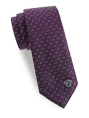 Geometric Dot Silk Tie