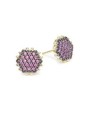 Octagon Stud Earrings