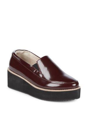 Tabbie Leather Platform Loafers