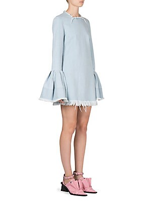 Bell Sleeve Denim Dress
