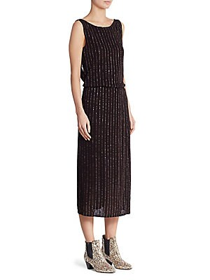 Glitter Pinstripe Dress
