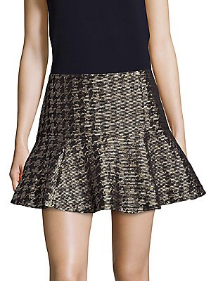 Metallic Fit-&-Flare Skirt