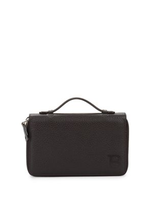 Leather Double Zip-Around Wallet Bally