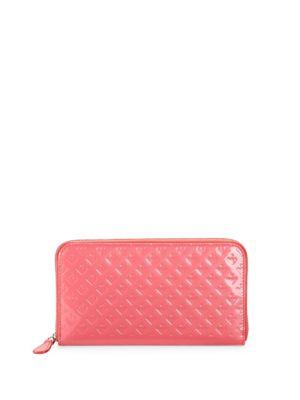 Leather Zip-Around Continental Wallet Bally