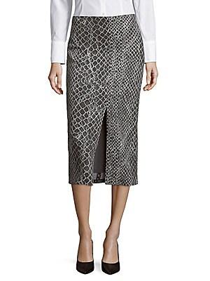 Spiga Animal Print Pencil Skirt