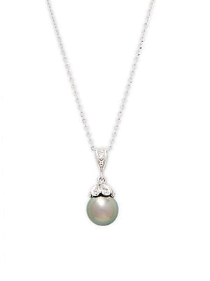 Click here for Pearl & Diamond Pendant Necklace prices
