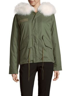 Anoraks With Fox Fur Peri Luxe