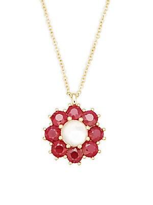 18K Gold Rock Candy Pendant Necklace/16
