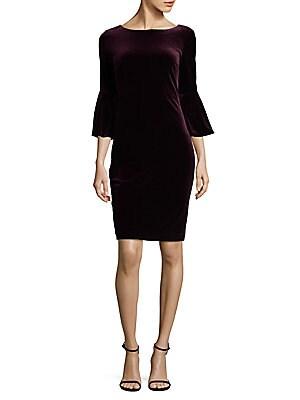 Boatneck Velvet Dress