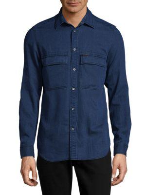 Cotton Button-Down Shirt Diesel