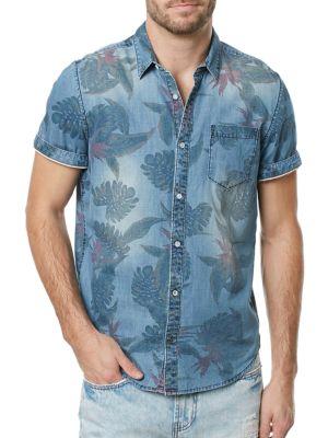 Tropical Chambray Sportshirt BUFFALO David Bitton