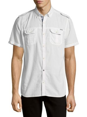 Cotton Button-Down Shirt BUFFALO David Bitton