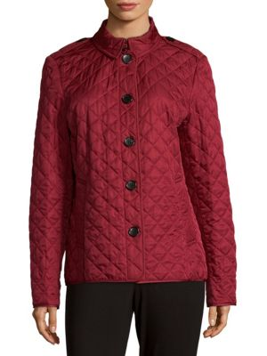 Quilted Point Collar Jacket Burberry