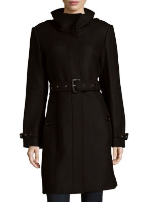 Concealed Closure Long Coat Burberry