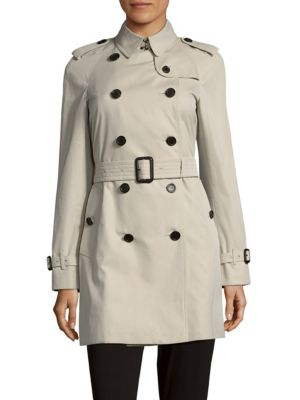 Raglan Sleeves Cotton Double-Breasted Coat Burberry
