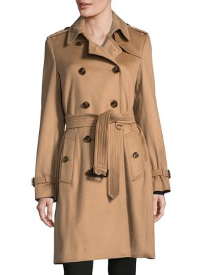 Belted Double-Breasted Coat Burberry