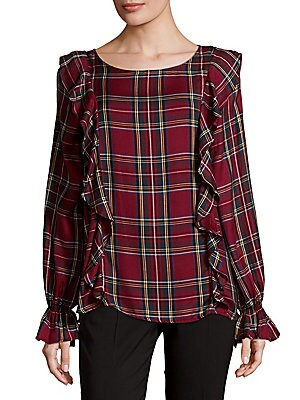 Scout Plaid Ruffle Top