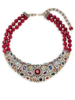 Crystal Holiday Collar Necklace
