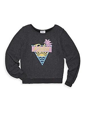 Girl's Retro Graphic Sweatshirt