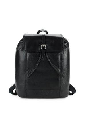 Flap Leather Backpack