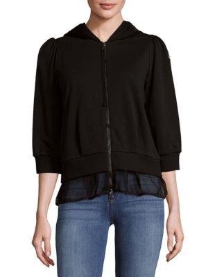 Hooded Zip Cotton Jacket Moncler