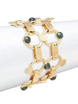Chantilly Green Moss Agate Thin Bracelet
