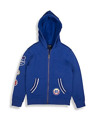 Boy's Patchwork French Terry Hoodie