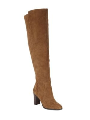 MARLOW TALL SUEDE HEELED BOOTS