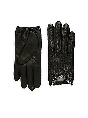 Basket Leather Gloves