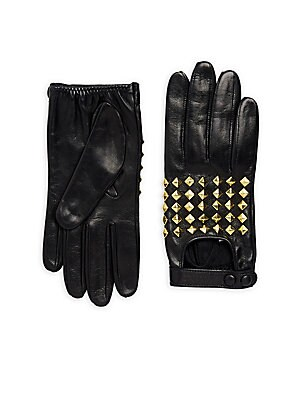Stud Leather Gloves