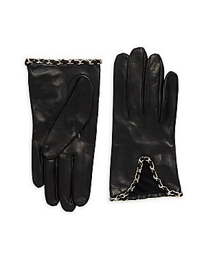 Chain Leather Gloves