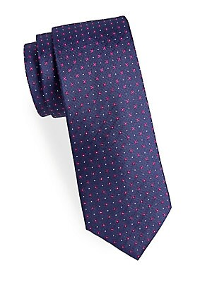 Floral Neat Silk Narrow Tie