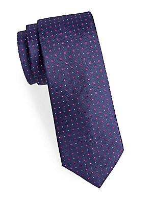 Floral Neat Silk Narrow Tie