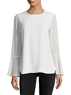 Roundneck Flare-Sleeve Top