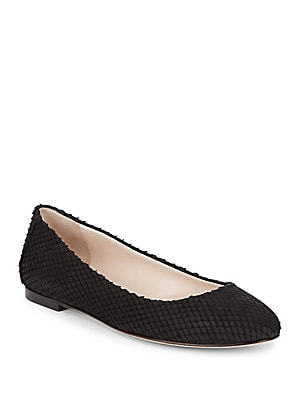 Round Toe Leather Ballet Flats