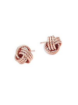 14K Rose Gold Twist Knot Earrings