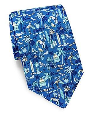 Tropical Silk Tie