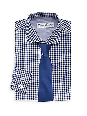 Boy's Small Checkered Dress Shirt