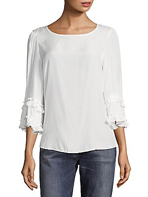 Bubble Three-Quarter Sleeve Top