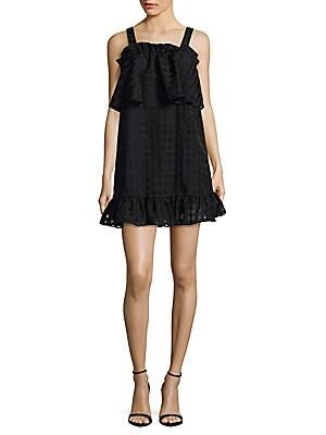 Windowpane Mini Dress