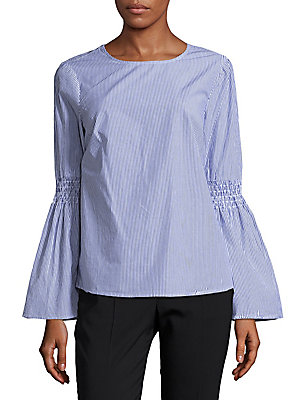 Cotton Pinstripe Blouse