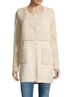 Nicole Patchwork Faux Fur Jacket