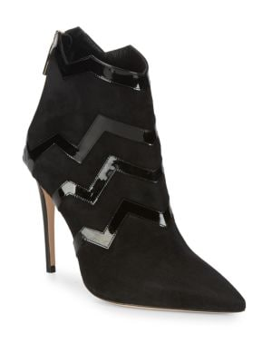 Patent Zigzag Suede Boots