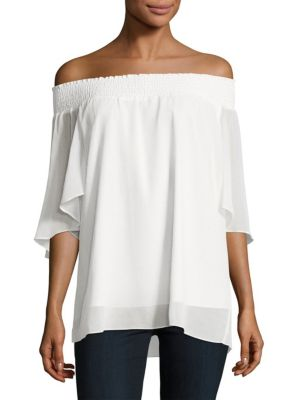Cecilia Textured Off-the-Shoulder Top T Tahari