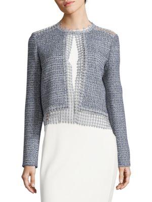 Crocheted Tweed Topper T Tahari